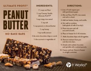 Peanut Butter No Bake Bars