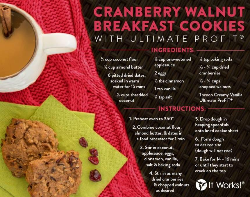 CranberryWalnutBreakfastCookies